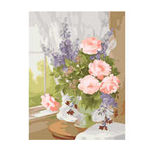 Decoration Oil Painting For Living Room,Beautiful Flower,Oil By Numbers,Diy Paint Number