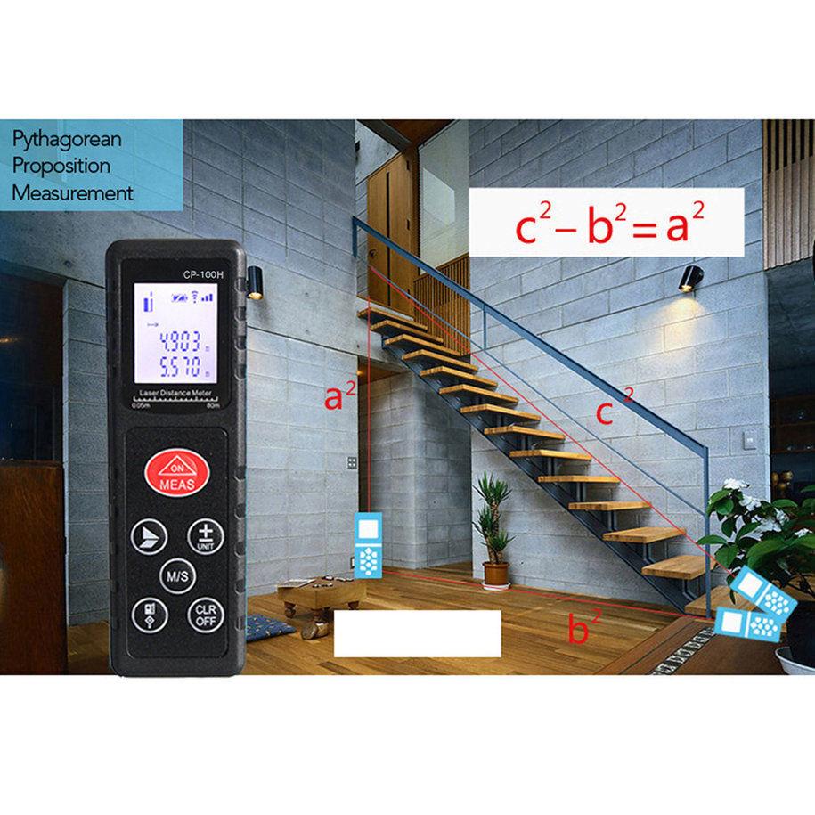 Купить Jufune CP-60H 60 м Лазерный Измеритель Расстояния Цифровой Ленты Измеритель дешево