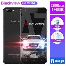 Hızlı kargo Blackview A7 Android 7.0 MTK6580A Quad Core 5.0 inç 1 GB 8 GB 3 Kameralar 3G WCDMA 2800 mAh Çift SIM Smartphone