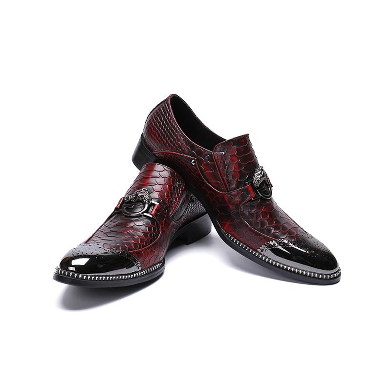 Zapatos Lujo Picture Los Picture Nuevo Negocios Emobssed Grandes La Casuales Marca Diseño Punta Mens Vestido Moda as As Cuero Hombres De Yardas 71Xwpx81q