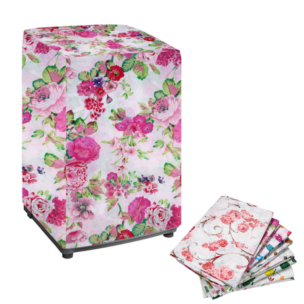 New Floral Waterproof Washing Machine Zippered Dust Cover