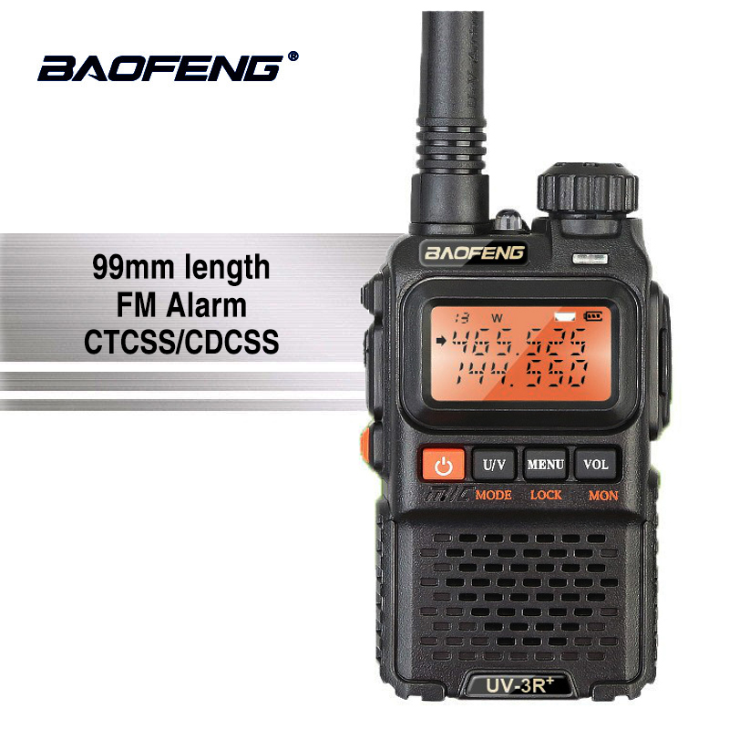 Baofeng UV-3R + Haute Qualité Mini Talkie Walkie Vhf portable UHF à Deux Voies Radio Scanner Hf Transceiver Ham Radio Station ecouteur