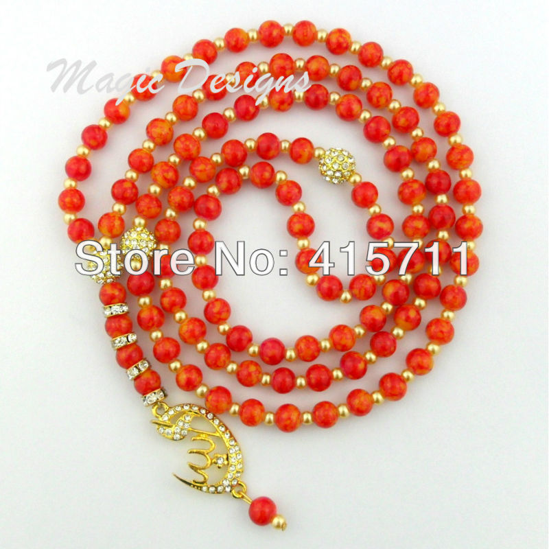 collier perle rouge maternelle