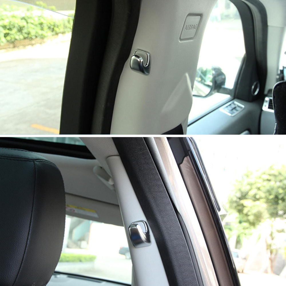 2Pcs Car Rear Back Door B Pillar Hook Base Cover Trim Caps Styling Fit For Land Rover Discovery Sport 2015 in Car Stickers from Automobiles Motorcycles