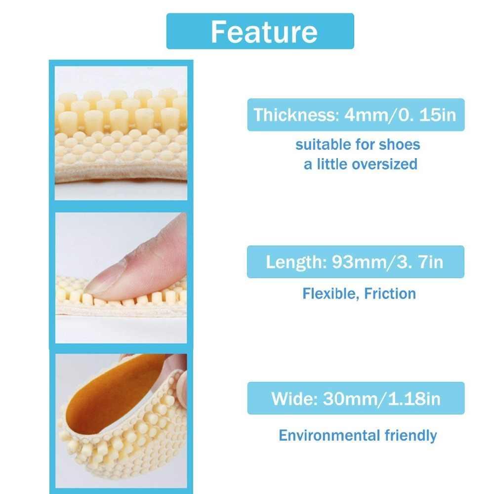 3 pares = 6 uds. Pegatinas de silicona 4D, seguidas de calzado patentado antidesgaste, tacón alto, medio colchón, Protector de almohadilla, zapato para el dolor en el talón