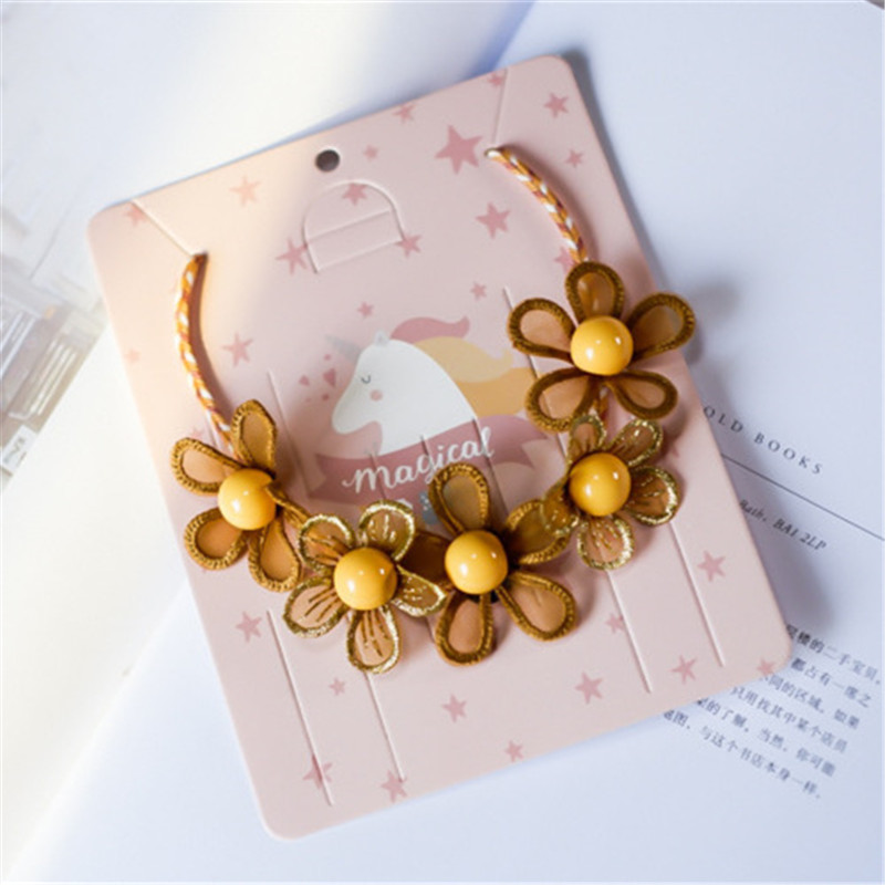 Korean Handmade Cute Cartoon Fabric Wreath Flower Leaf Princess Kids Children Girl Necklace Apparel Accessories HZPRCGNL065F in Pendant Necklaces from Jewelry Accessories