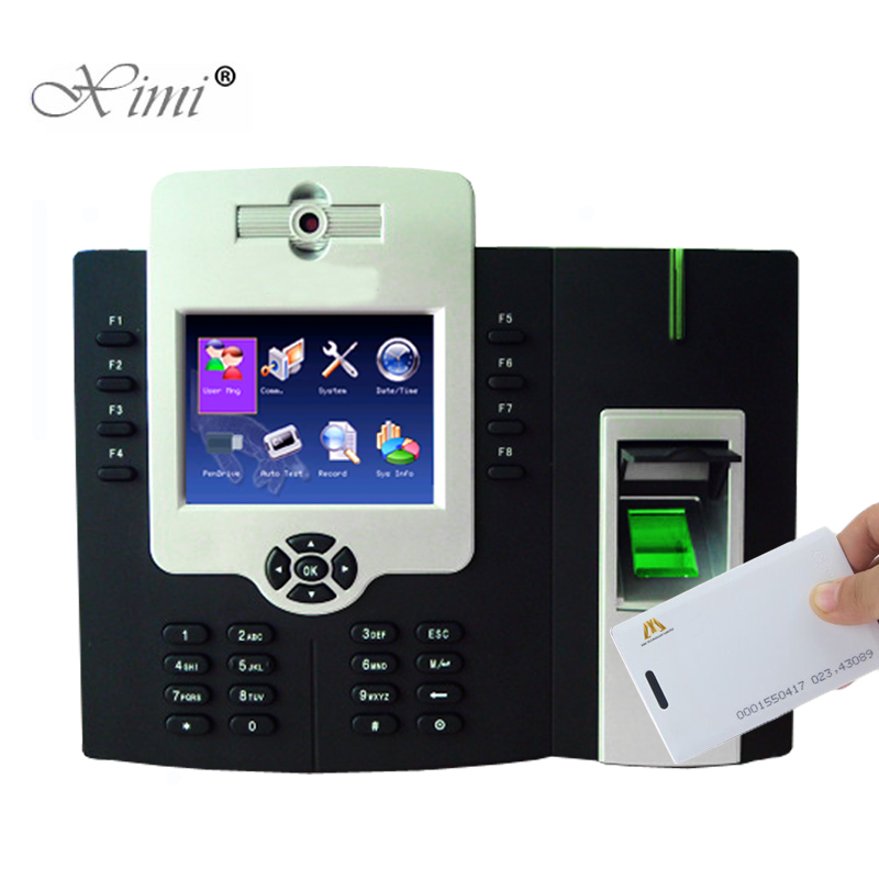 ZK ICLOCK880-H 50000 Fingerprint Time Attendance And Access Control With 125KHZ RFID Card Reader And Camera And Backup Battery