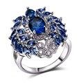 Moda Anillos de rodio plateado con cubic zircon ajuste señoras Party los anillos para las mujeres Anillo de dedo de la alta calidad envío gratis