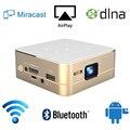 СВЕТОДИОДНЫЕ Видео HD Mini DLP Pico 4 К Декодирования Дисплей DLP Портативный Проектор с Android Wi-Fi Bluetooth 2600 мАч Батареи P96 proyector