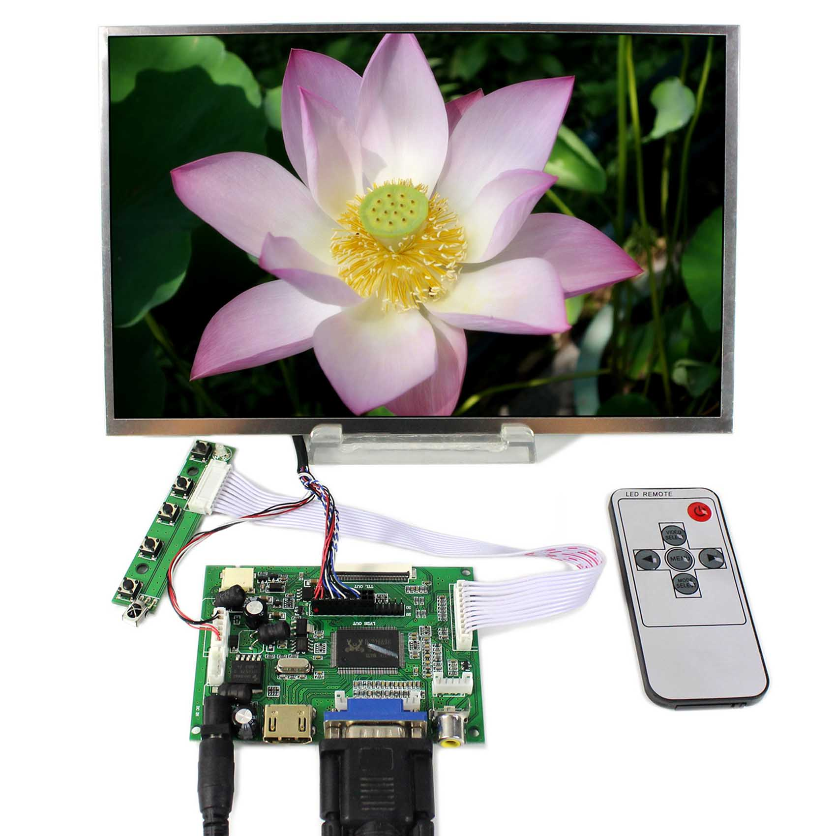 HDMI VGA 2AV LCD Controller Board With 10 1 B101EW05 LP101WX1 SLP2 1280x800 LCD Screen