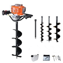 68cc Digging tool auger drilling rig fence post small earth 68CC with drill bit