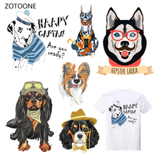 ZOTOONE Iron on Transfer Patches Clothing Diy Stripes 3D Dogs Patch Heat for Clothes Decoration Stickers Kids G