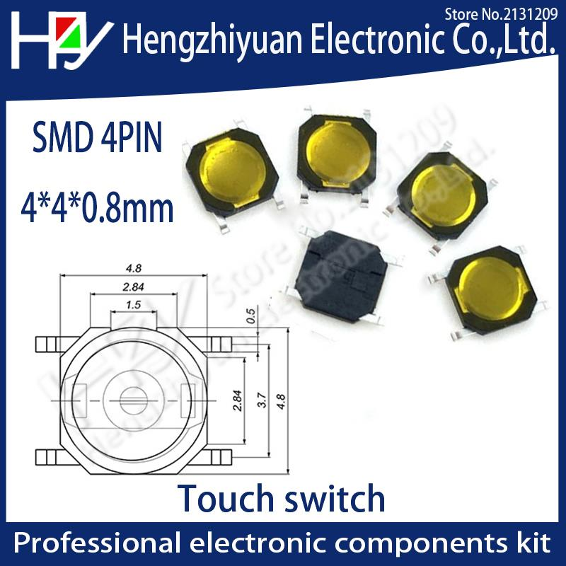Lighting Accessories Switches Shop For Cheap Phiscale 20pcs Import Black Tactile Push Button Switch 3*6*4.3mm Micro Switch Smd 2pin