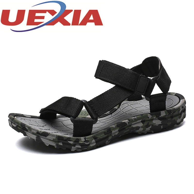 Plus Size 48 Summer Fashion Mens Sandals Camouflage Shoes Men Sandals Fashion Sandalia Masculina Casual Flip Flops Flat Sandal