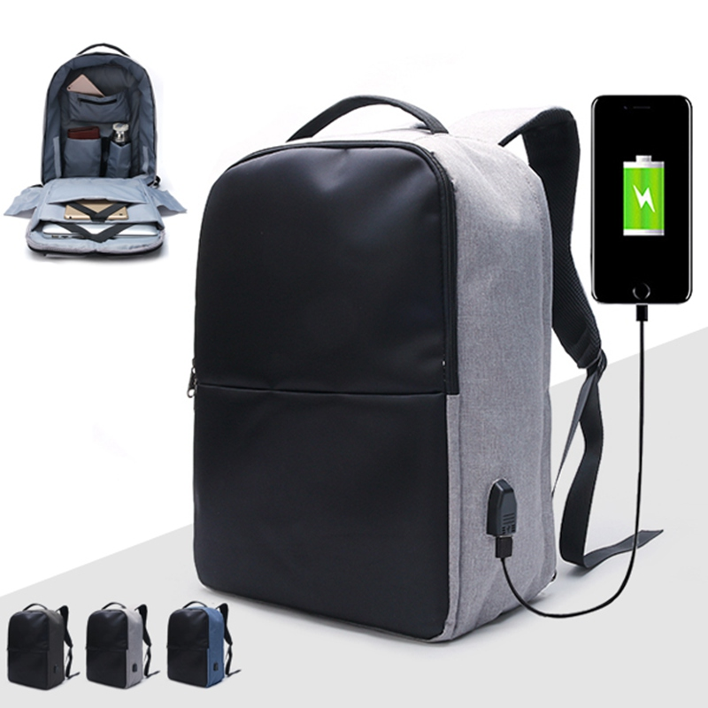 Anti theft Backpack Waterproof Travel Laptop Bag With USB Charging Port High capacity Notebook Computer Case
