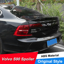 JNCFORURC Rear Trunk Lid Car Spoiler Wings For Volvo S90 New 2016 17 18 Years Lip ABS Material