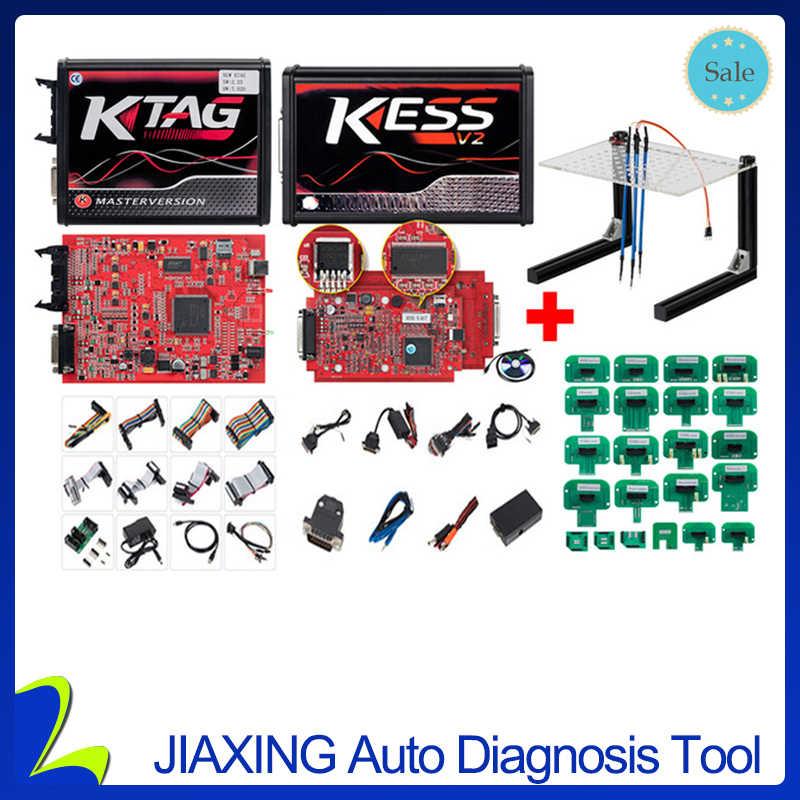 KESS V2 V5 017 Red V2 47/V2 23 ECM Titanium KTAG V7 020 4 LED K-TAG Online  Master Version ECU OBD2 car truck OBD Programmer tool