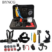BYNCG Gopro Accessories Set Helmet Harness Chest Belt Head Mount Strap Monopod For Go Pro Hero