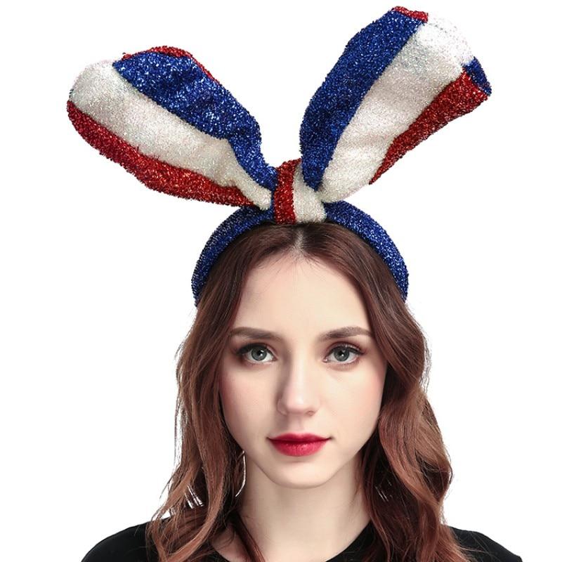 Cute Bunny Ausis Trušu kājiņas Karogs Hairband Headband Pasaules - Apģērba piederumi
