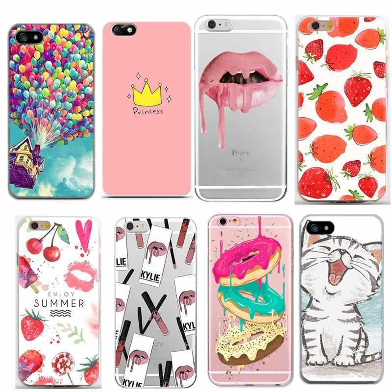 Funda para Iphone 6 S para mujeres niñas funda de silicona suave para Iphone X accesorios Iphone7 Plus 8 PLUS 6 6 s 5 5 5S casos
