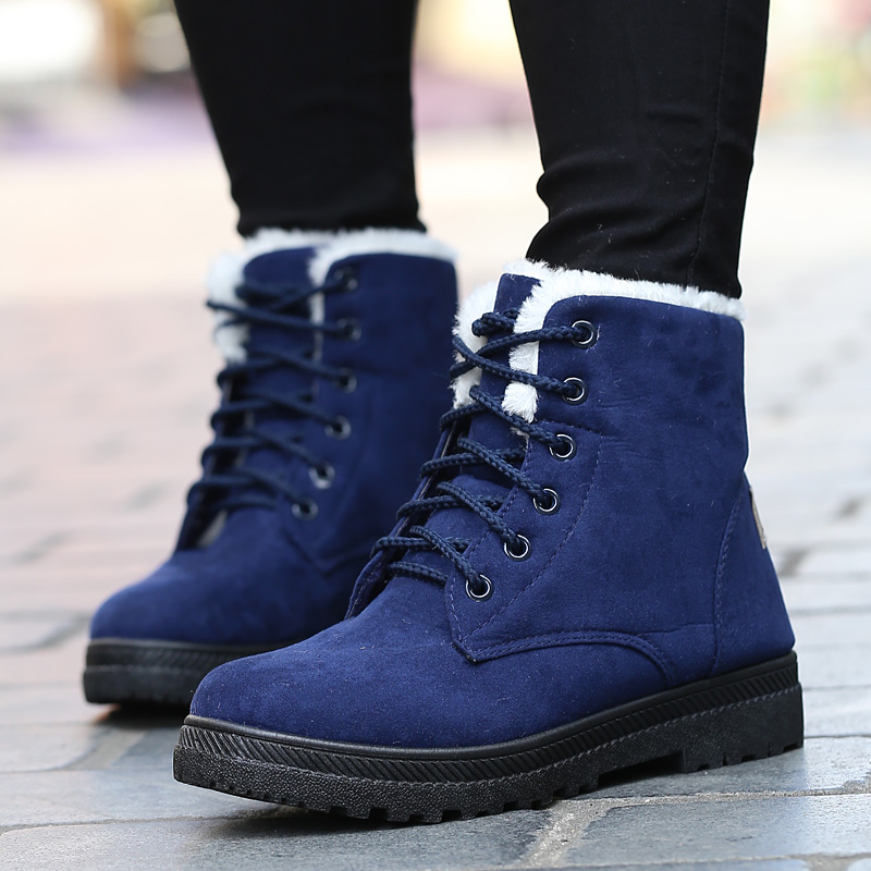 Free shipping Snow boots winter ankle boots women shoes plus size shoes 2016 fashion heels winter