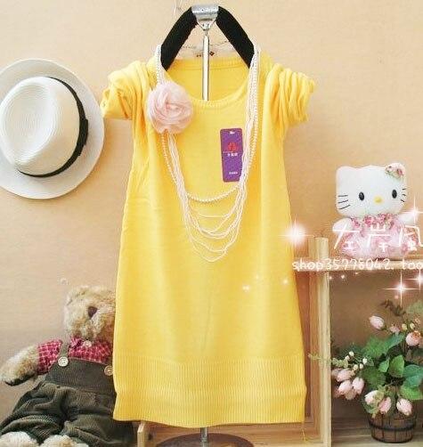 de La Moda suéter largo para mujer Primavera otoño las mujeres de cuello redond