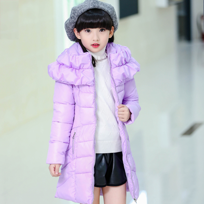 Winter Coats for Teenage Girls Cotton Padded Warm Children s Winter Jackets 5 14 Years Girls