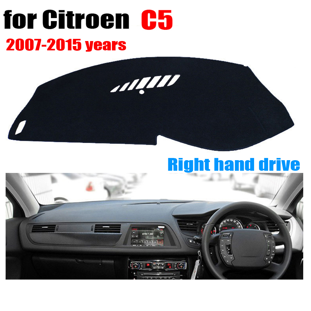 Floor mats xsara picasso - Car Dashboard Cover Mat For Citroen C5 2007 2015 Years Right Hand Drive Dashmat Pad