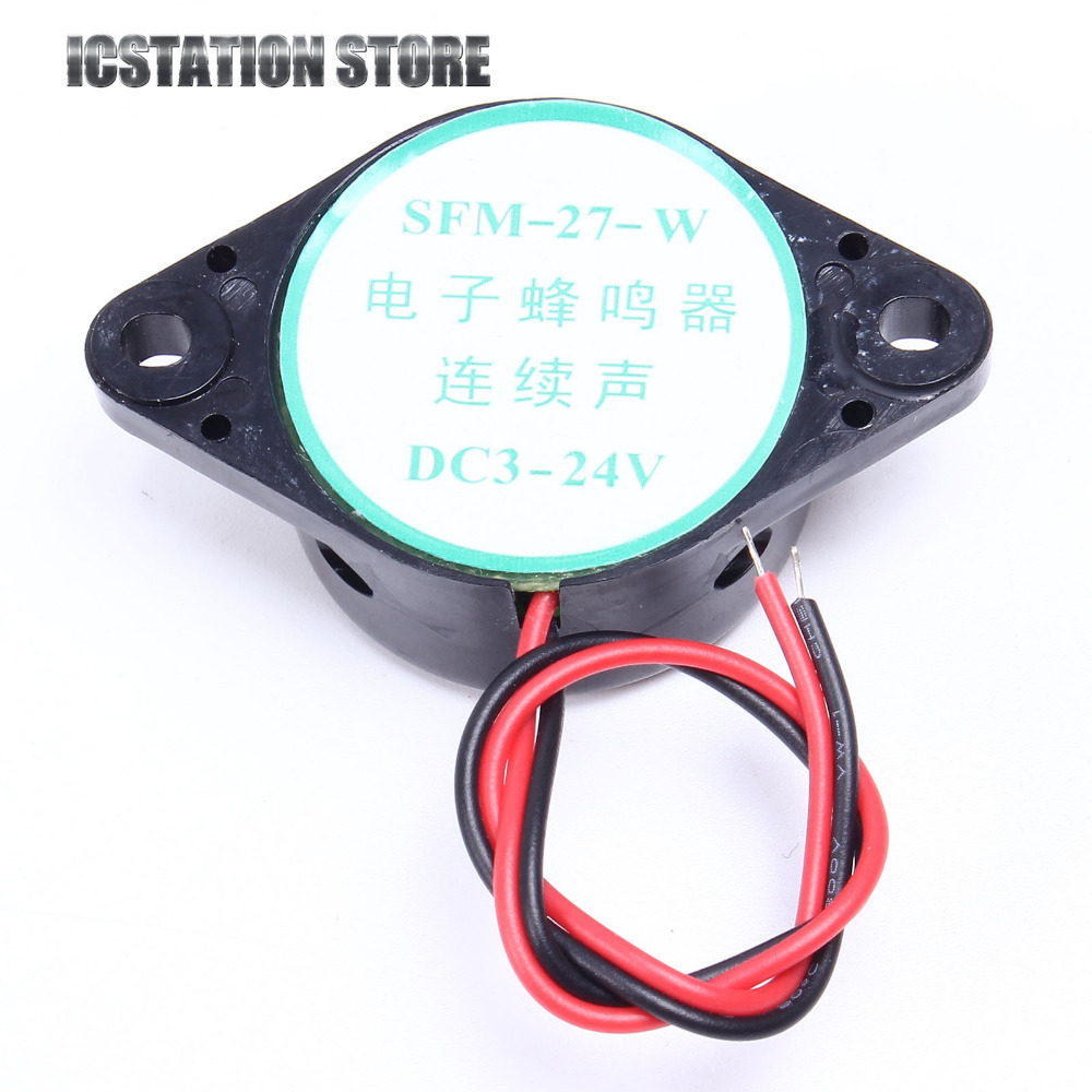 Dc 12v 85db Active Piezo Electronic Buzzer Beep Tone Alarm Ringer Beeper Sound Continous For Motorcycle Boat Temp Oil Pressure In Replacement Parts