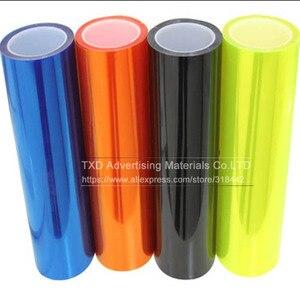Image 5 - 30*100 см/партия, автомобильная Глянцевая световая пленка с 3 слоями для защиты передсветильник света, глянцевая светильник пленка с бесплатной доставкой