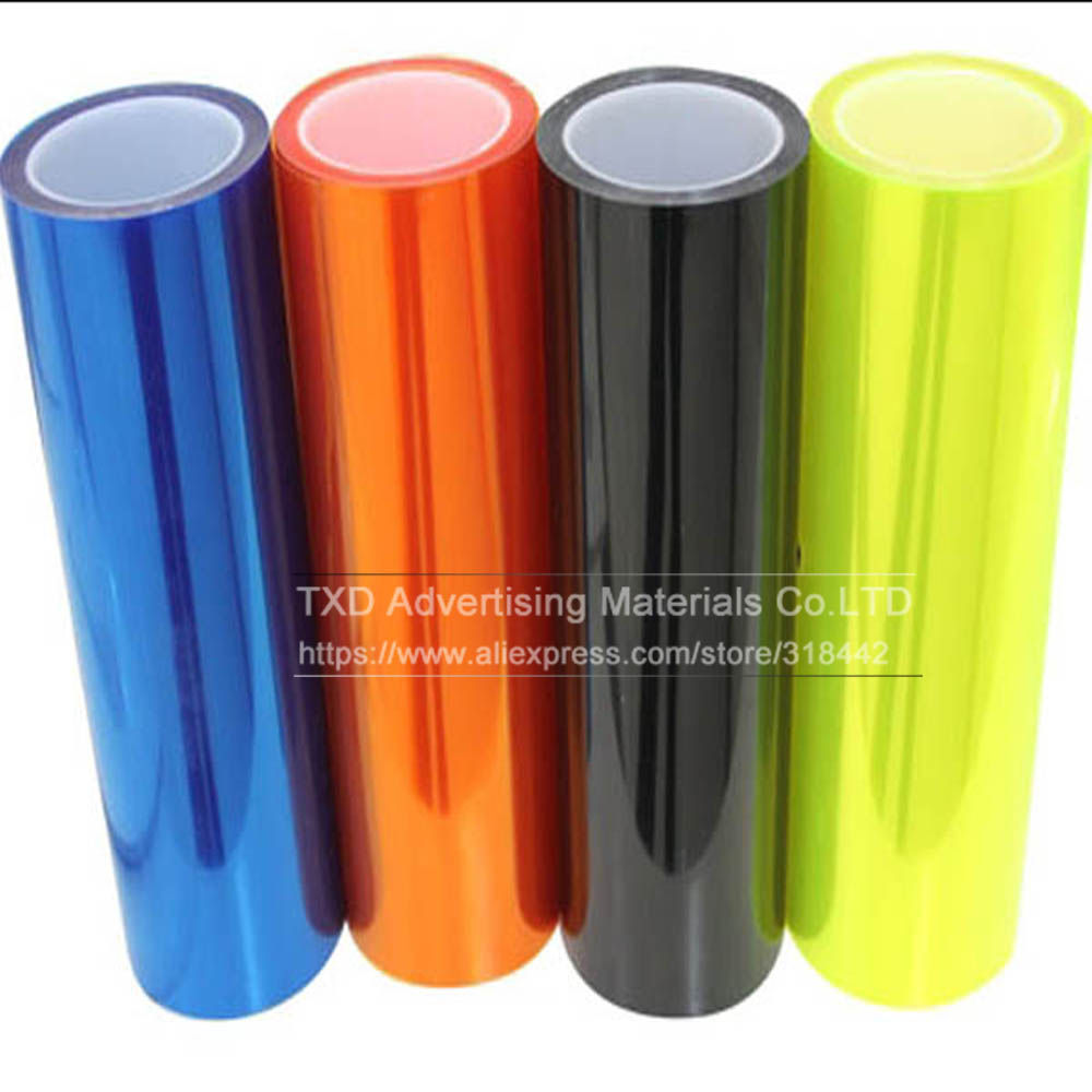 Image 5 - 30*100CM/Lot Glossy Car Headlight Film with 3 layers for headlight protection Glossy Car light film with free shipping-in Car Stickers from Automobiles & Motorcycles