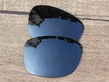 Black Iridium Mirror Polarized Replacement Lenses For Jupiter Squared Sunglasses Frame 100% UVA & UVB Protection