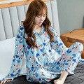 2016 женщин Прекрасный Пижамы Множеств Женщины Пижамы Осень Зима Брюки Пижамы Сна носить Пижамы Устанавливает уютный Хлопок пижамы Костюм