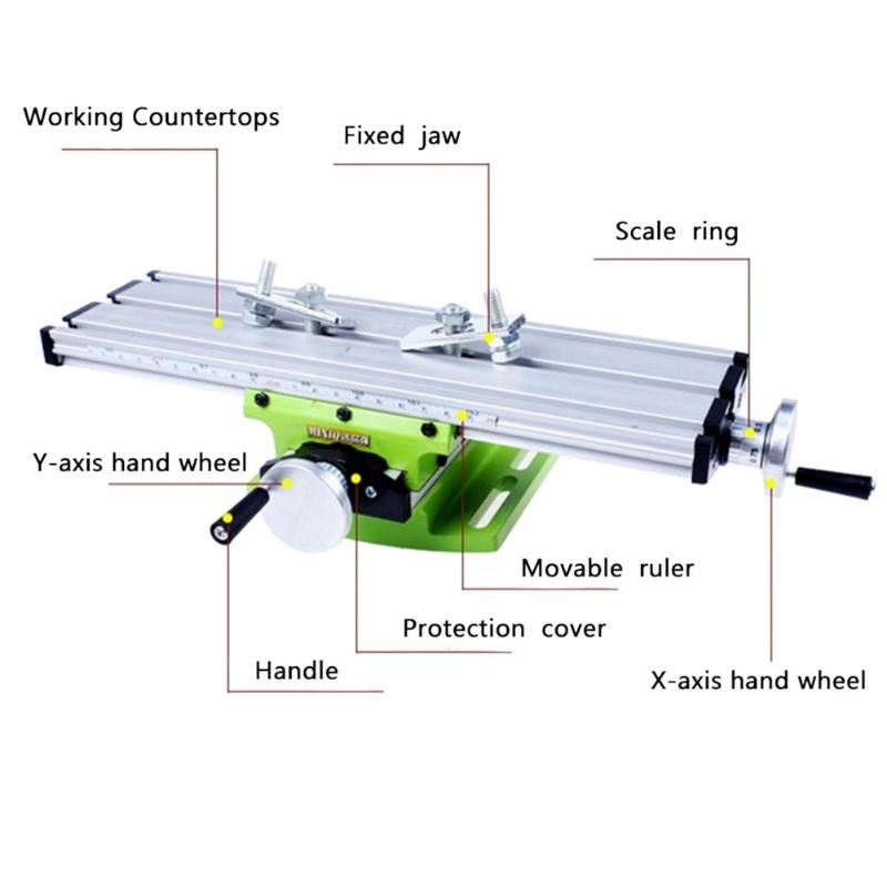 Multifunction Miniature Precision Milling Machine Bench Drill Vise Bench Fixture Worktable X Y-axis Adjustment Coordinate Table