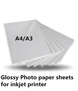 180g A4 A3 błyszczący papier do drukarek atramentowych arkuszy do drukarek atramentowych 200 arkuszy cena tanie i dobre opinie Papier fotograficzny non waterproof photo paper carton package colormaker glossy single side 180gsm dye printer white top grade paper