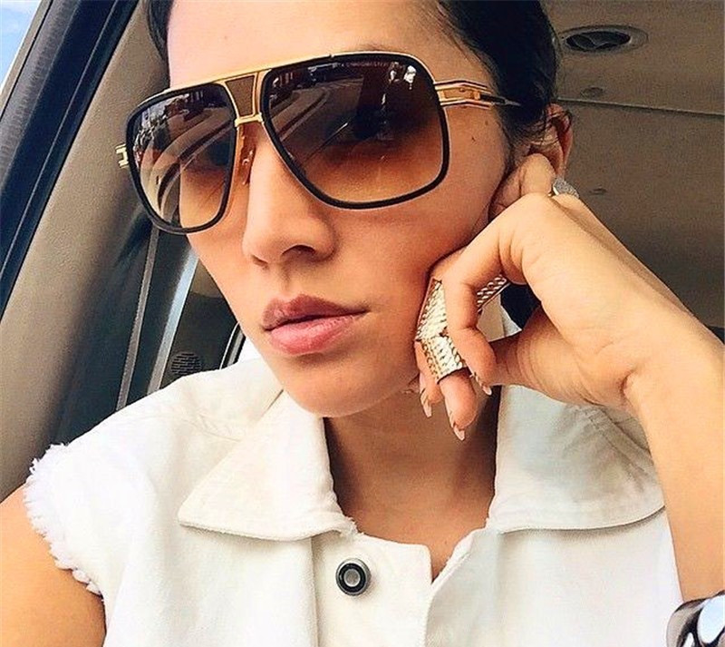 Mjeshtër i ri i mbërritjes Sunglasses gra / burra 18K Glod Sunglass - Aksesorë veshjesh - Foto 4