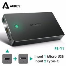 Aukey 20000 мАч Power Bank Внешняя Батарея Dual USB КК 2.0 Powerbank Портативное Зарядное Устройство Для iPhone 7 6 s xiaomi mi5 Redmi3 Samsung