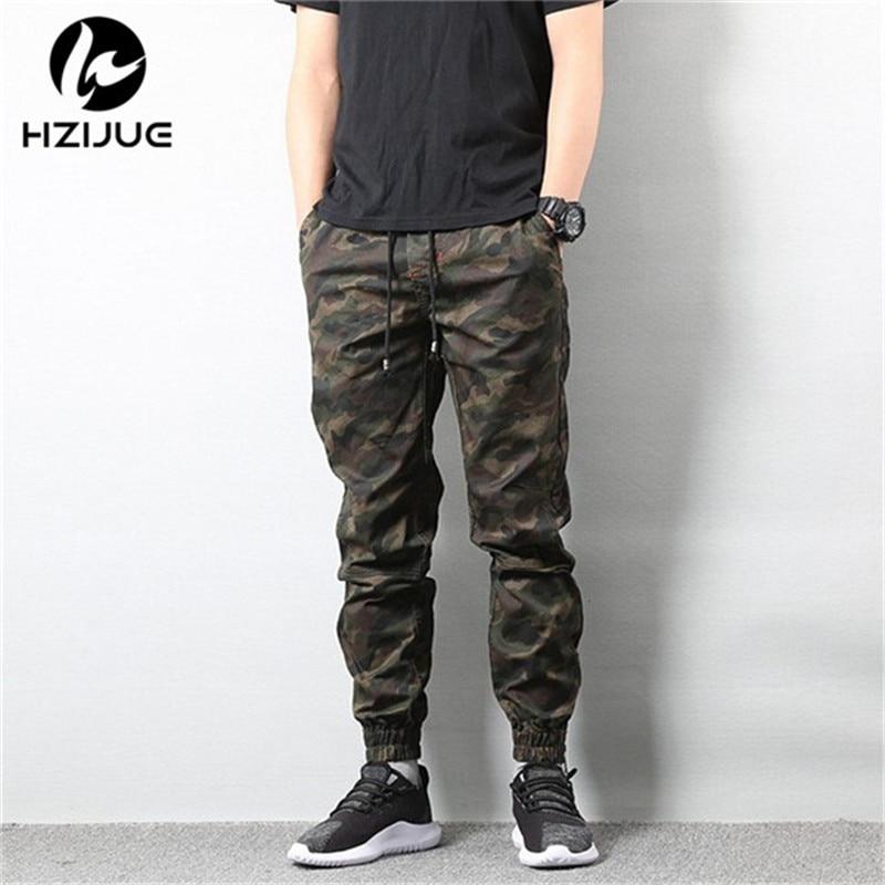 HZIJUE 2018 Mens Jogger Autumn Pencil Harem Pants Hip Hop Men Camouflage Military Pants Loose Comfortable Trousers Camo Joggers