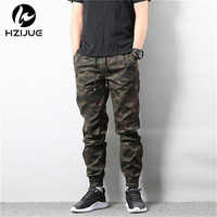 HZIJUE 2018 Mens Jogger Autumn Pencil Harem Pants Hip Hop Men Camouflage Military Pants Loose Comfortable Trousers Camo Joggers