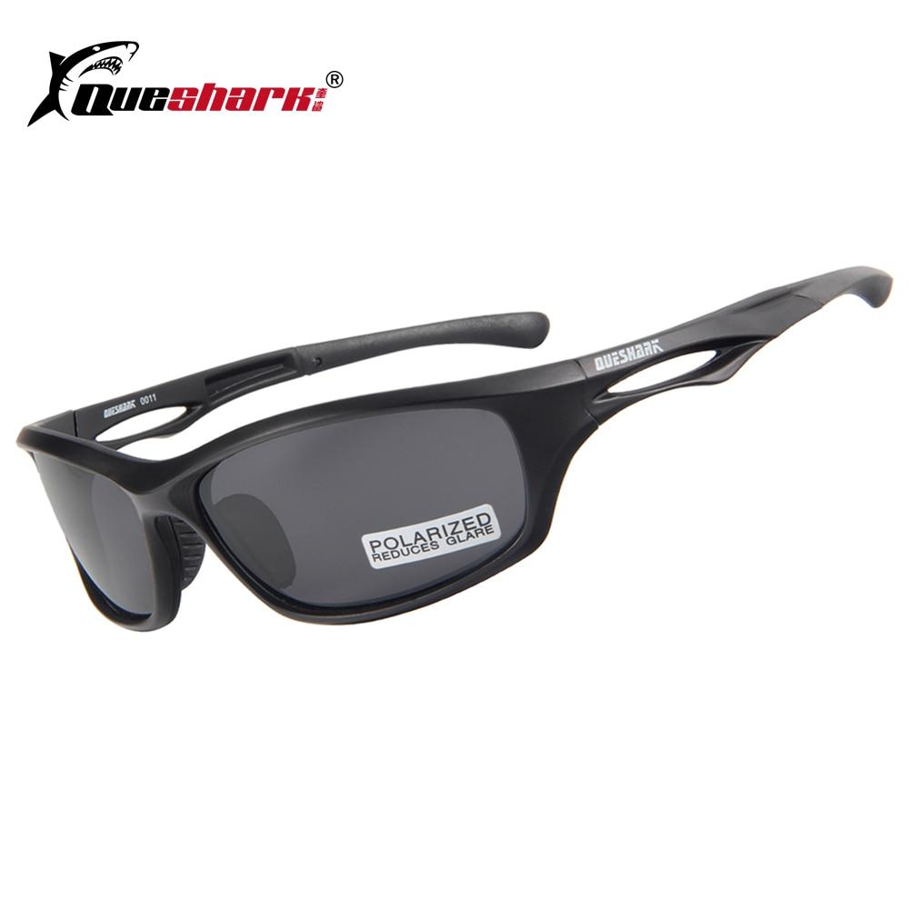 QUESHARK Men Women Sports Cycling Eyewear Matte Black TR90 Bicycle Glasses Riding Fishing Camping Hiking Cycling Sunglasses