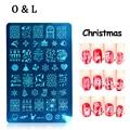 New 1pcs MR Series Christmas Nail Art Stamping Template Polish Design Print Mold Stencil Nail Stamp Manicure Tools