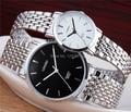 Original de la marca del relogio masculino reloj de los hombres completa de acero inoxidable reloj de los hombres y mujeres pareja de moda reloj montre femme regalo
