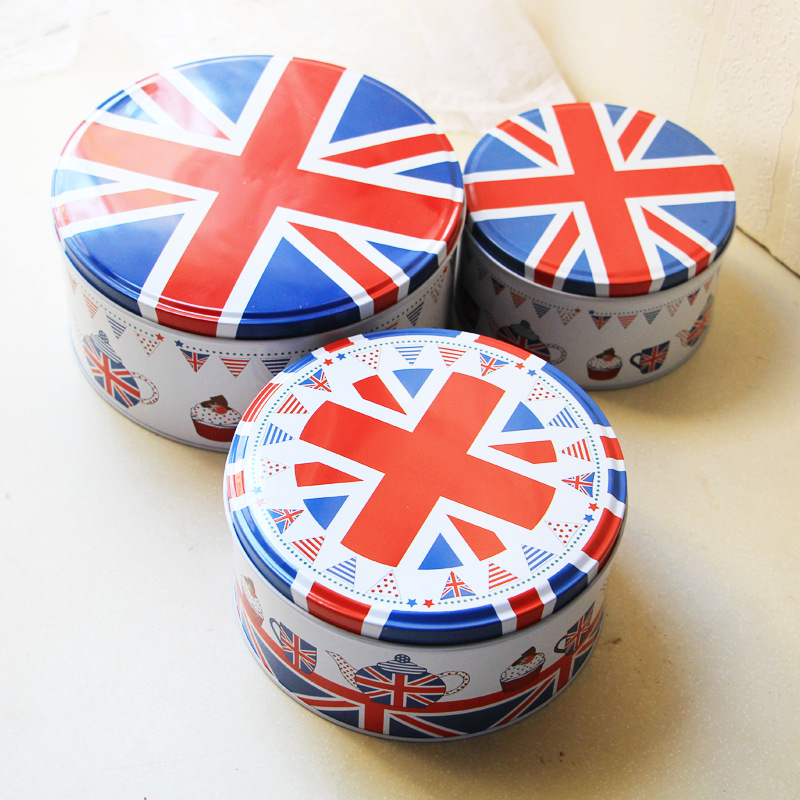Three Piece Household Storage Box Set Candy Biscuit Tin Box Snack