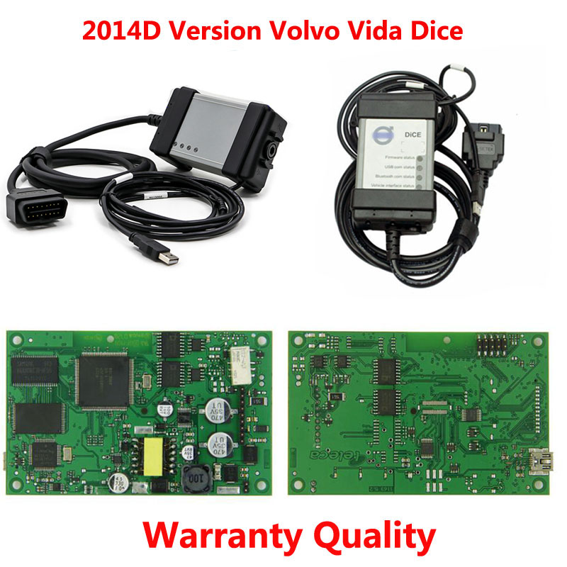 Best quality Full Chip For Volvo Vida Dice Newest 2014D Diagnostic Tool For Volvo Dice Pro Vida Dice Green Board latest allscanner vxdiag nano pro diagnostic tool for gm ford mazda vw toyota volvo jlr with dhl shipping
