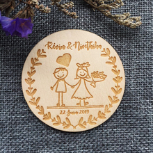 wooden engraving save the date magnets bride groom name label wedding gift party decoration souvenir, for guests