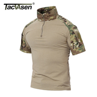 TACVASEN Summer Brand Clothing 2017 New Mens Tactical T Shirt Shorts Army Military Camouflage T