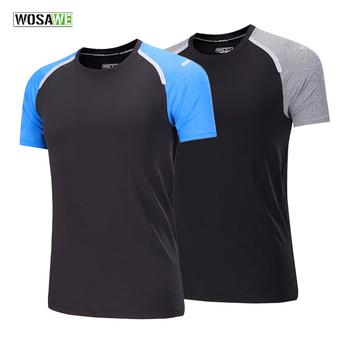WOSAWE koszulki do biegania szybkie suche koszulki do biegania Slim dopasowane koszulki koszulki sportowe męskie Fitness siłownia koszulki bluzka pokazująca mięśnie tanie i dobre opinie Wiosna Lato AUTUMN Poliester Pasuje mniejszy niż zwykle proszę sprawdzić ten sklep jest dobór informacji LS286
