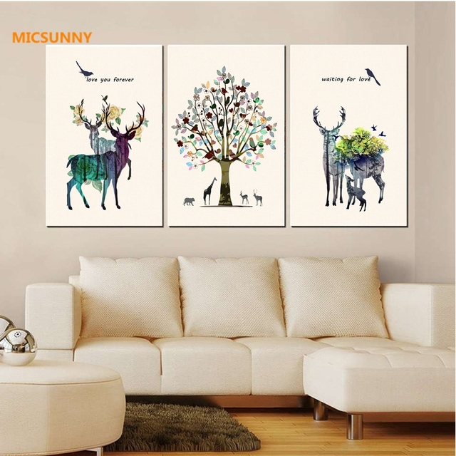 Micsunny Elegant Colorful Home Decorations Wall Pictures Wall Art