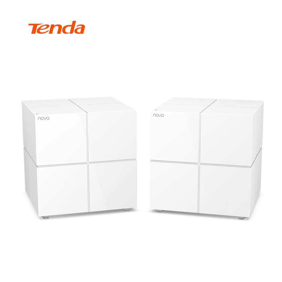 Tenda Nova Mesh Wireless WiFi System Nova MW6 With Dual Band 2.4G/5.0GHz WiFi Router,Wireless Repeater,Distributed Routing,2 PCS