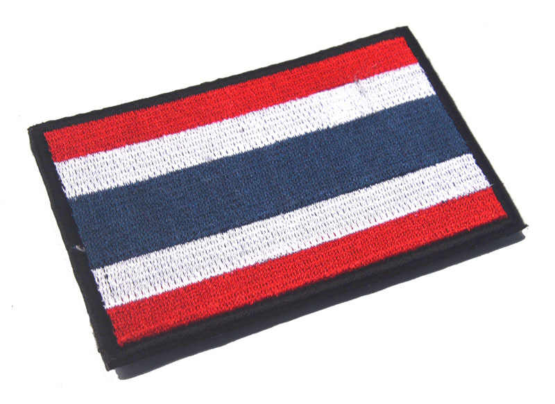 Embroidery Badge Thailand's National Flag Of Thailand Military Embroidered  Badges Tactical Patch For Outdoor Clothing Cap Bag
